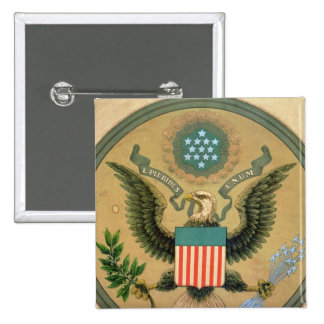 Great Seal of the United States, c.1850 2 Inch Square Button