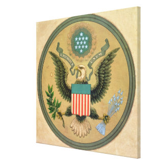 Great Seal of the United States, c.1850 Canvas Print