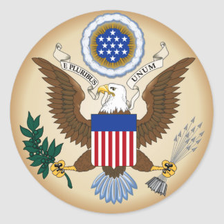 GREAT SEAL OF THE UNITED STATES CLASSIC ROUND STICKER