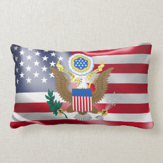 Great seal of the United States Lumbar Pillow