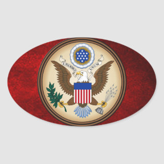 GREAT SEAL OF THE UNITED STATES OVAL STICKER