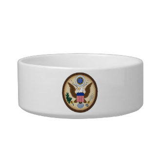 GREAT SEAL OF THE UNITED STATES CAT FOOD BOWL