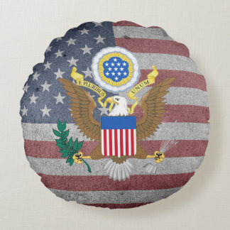 Great Seal of the United States Round Pillow