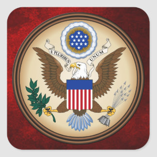 GREAT SEAL OF THE UNITED STATES SQUARE STICKER