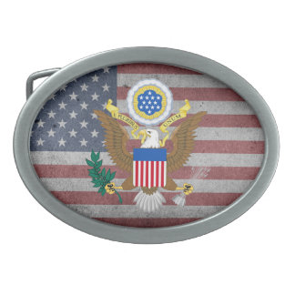 Great seal of United States Oval Belt Buckle