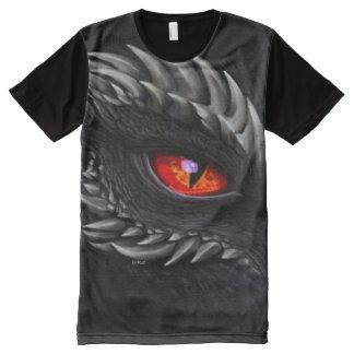 Great Shadow Dragon eye Airbrush Fantasy Art All-Over-Print Shirt