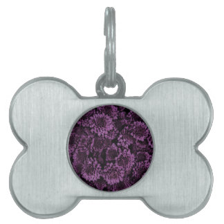 great shimmering flowers purple (I) Pet Tag
