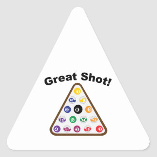 Great Shot Triangle Sticker