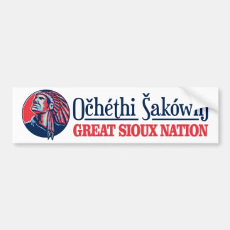 Great Sioux Nation Bumper Sticker