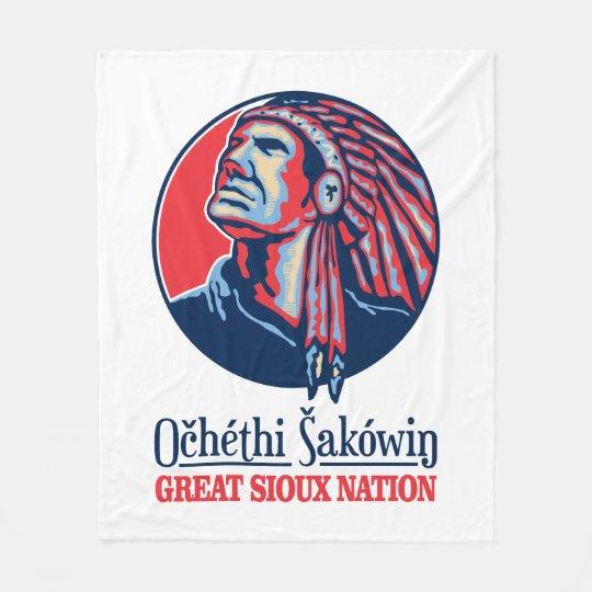 Great Sioux Nation Fleece Blanket