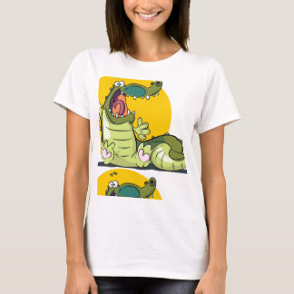 Great Smile Crocodile Funny T-Shirt For Women