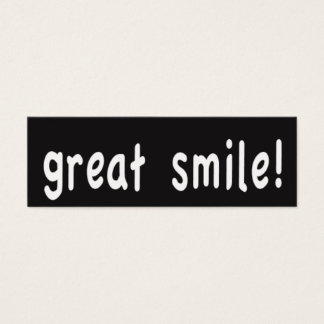 Great Smile! Pay it forward cards