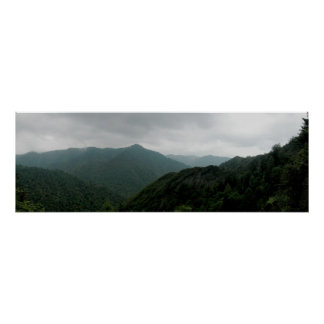Great Smokey Mountains National Park Panormaic 1 Poster