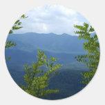 Great Smokey Mountains Round Stickers