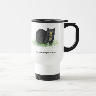 ~Great Smoky Mountain~ BlackBear white travel mug
