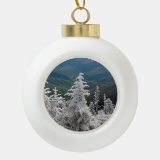 Great Smoky Mountain National Park Ceramic Ball Christmas Ornament