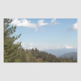 Great Smoky Mountain Vista 3 Rectangular Sticker