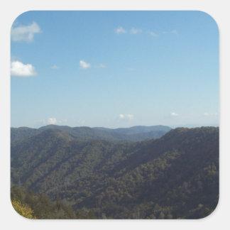 Great Smoky Mountain Vista 6 Square Sticker