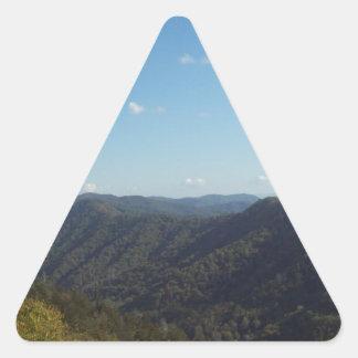 Great Smoky Mountain Vista 6 Triangle Sticker