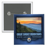 Great Smoky Mountains 2 Inch Square Button
