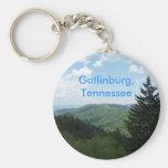 Great Smoky Mountains Basic Round Button Keychain