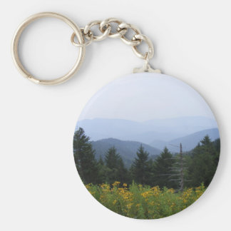 Great Smoky Mountains Basic Round Button Keychain