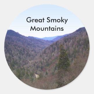 Great Smoky Mountains Classic Round Sticker