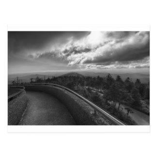 great smoky mountains clingmans dome post card