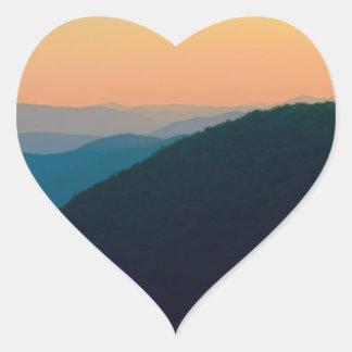 Great Smoky Mountains Heart Sticker
