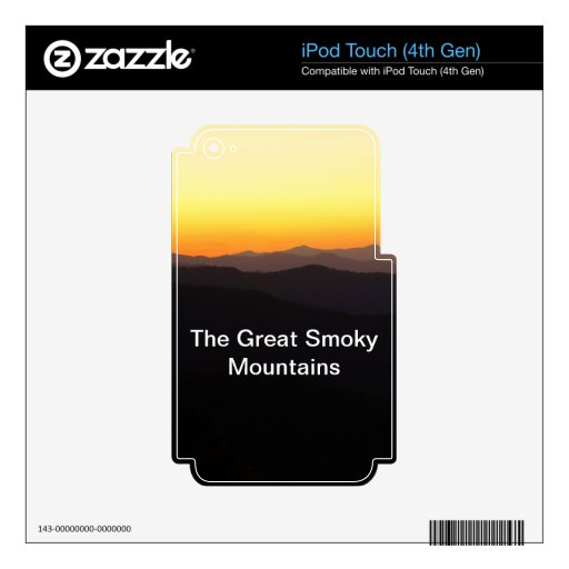Great Smoky Mountains iPod Touch 4G Skins