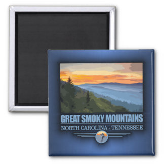 Great Smoky Mountains 2 Inch Square Magnet