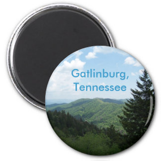 Great Smoky Mountains 2 Inch Round Magnet
