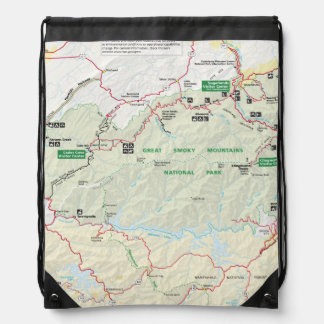 Great Smoky Mountains map backpack