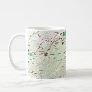 Great Smoky Mountains map mug