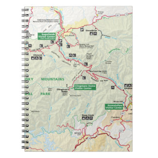 Great Smoky Mountains map notebook