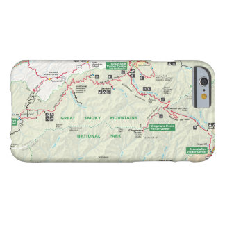 Great Smoky Mountains map phone case