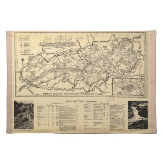 Great Smoky Mountains National Park (1940) Cloth Placemat