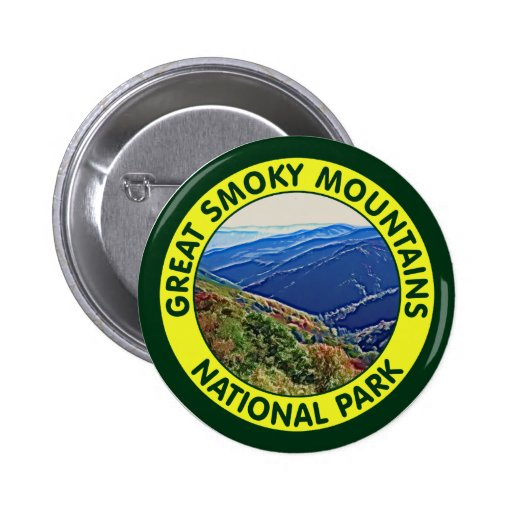 Great Smoky Mountains National Park 2 Inch Round Button
