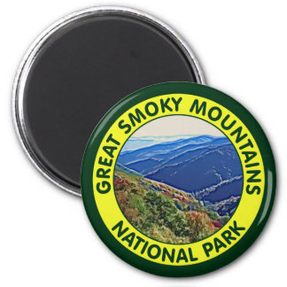 Great Smoky Mountains National Park 2 Inch Round Magnet