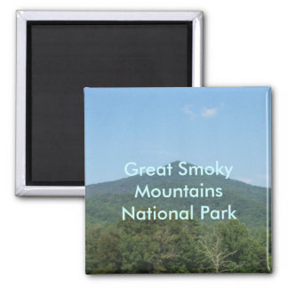 Great Smoky Mountains National Park 2 Inch Square Magnet