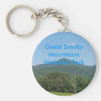 Great Smoky Mountains National Park Basic Round Button Keychain