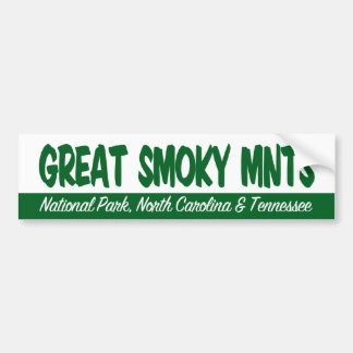 Great Smoky Mountains National Park Bumper Sticker