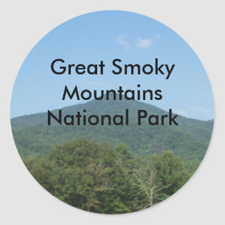 Great Smoky Mountains National Park Classic Round Sticker