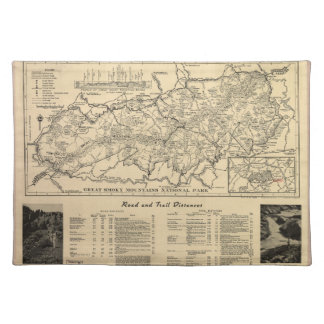 Great Smoky Mountains National Park Map (1941) Cloth Placemat