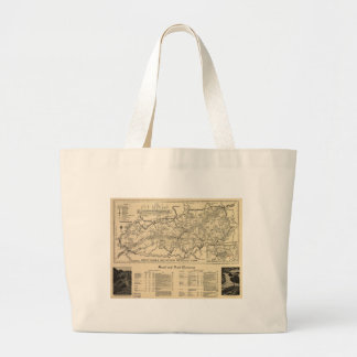 Great Smoky Mountains National Park Map (1941) Large Tote Bag