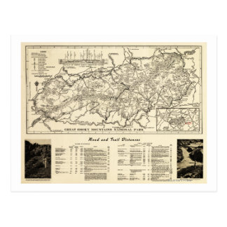 Great Smoky Mountains National Park Map Postcard