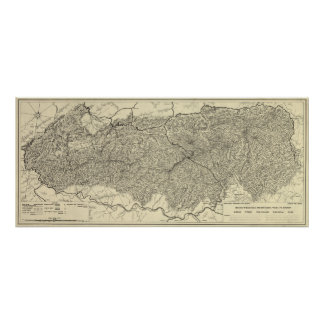 Great Smoky Mountains National Park Map Poster