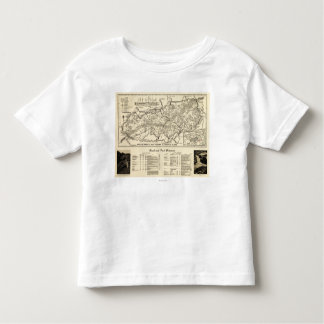 Great Smoky Mountains National Park Map T Shirt