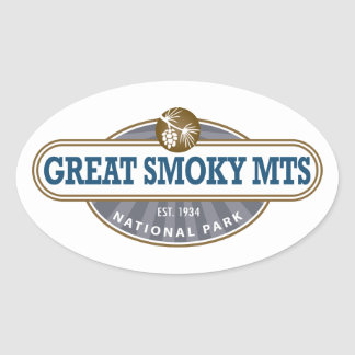 Great Smoky Mountains National Park Oval Sticker