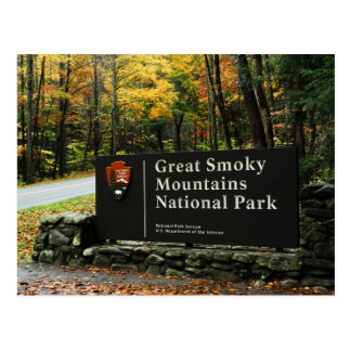 Great Smoky Mountains National Park Sign Postcard